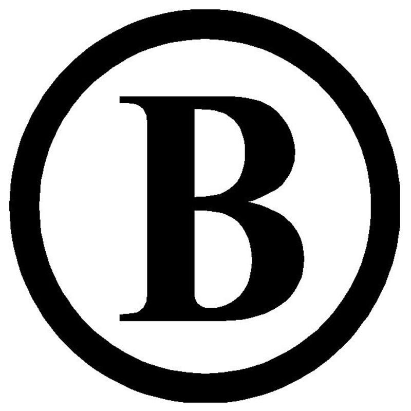 single initial car monogram