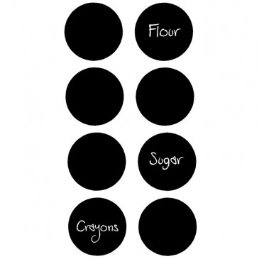 Chalk Board Vinyl *8 - 2.5 inch circles*