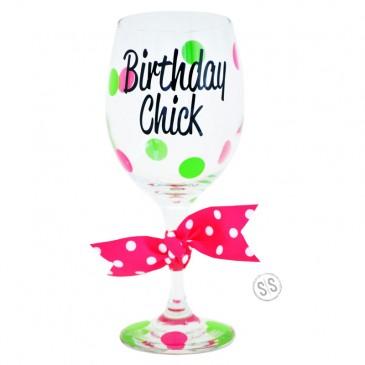 Wine Glass *Birthday Chick*