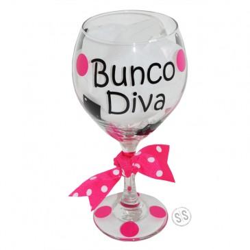 Wine Glass *Bunco Diva*