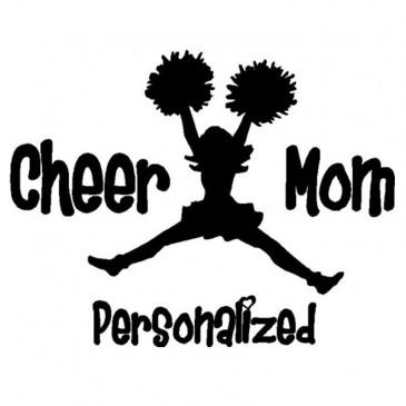 Cheer Mom Car Sticker
