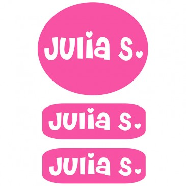 Peel & Stick Clothing Labels *Pink*
