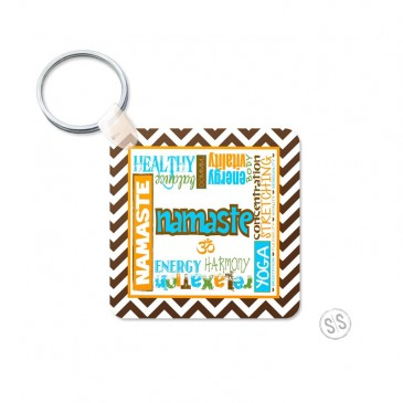 Yoga Graffiti Keychain