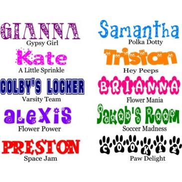 Name Sticker Decals