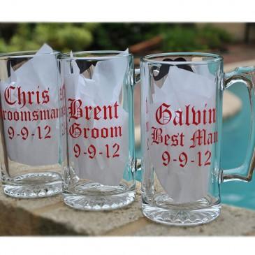 Beer Mug *Old English Bridal Party*