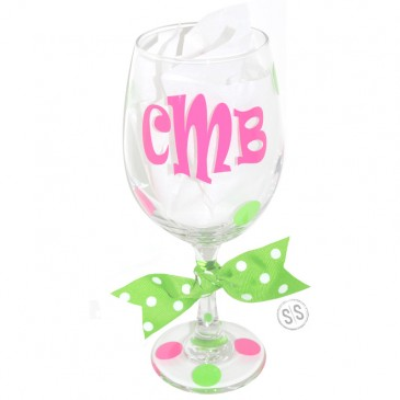Wine Glass *Retro Monogram*