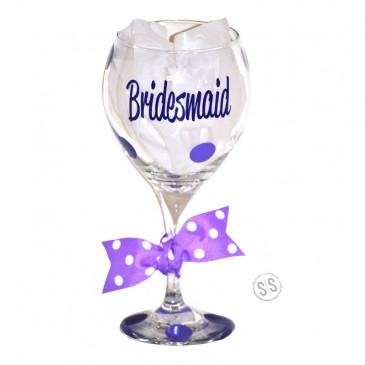 Wine Glass *Script Bridal*