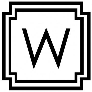 Monogram *Straight Edge Letter*