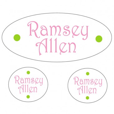 Waterproof Labels *Light Pink and Lime*