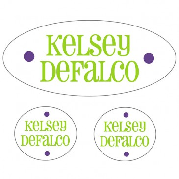 Waterproof Labels *Lime and Purple*