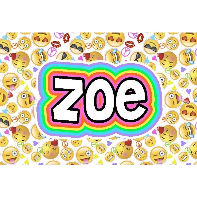 White Emoji Faces Floormat