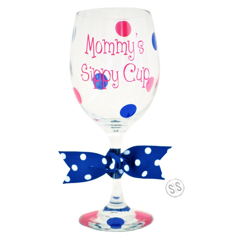 Mommy\'s Sippy Cup Wine Glass