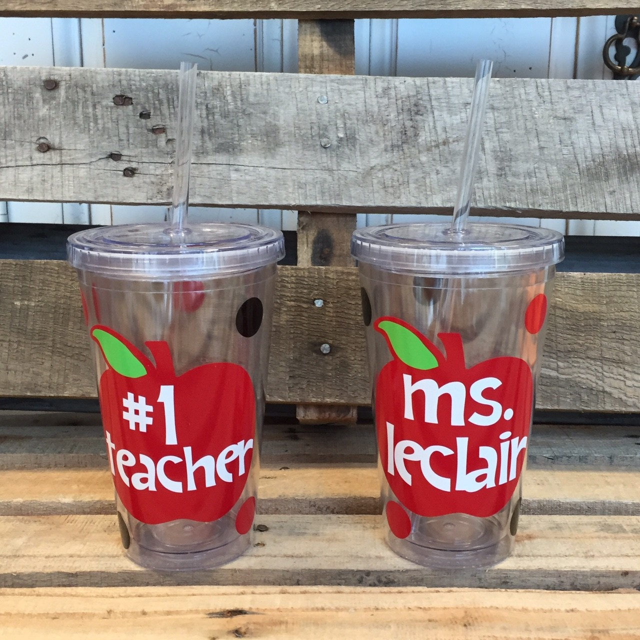 Apple Teacher Personalized Tumbler