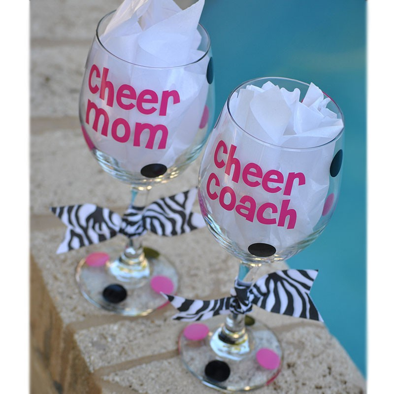 Cheer Mom Wine Glass
