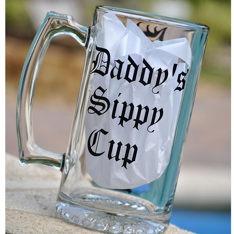 Beer mug daddys sippy cup