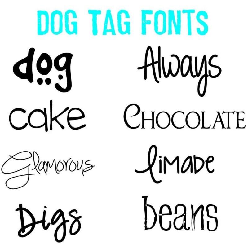 Cheetah Print Monogrammed Dog Tag