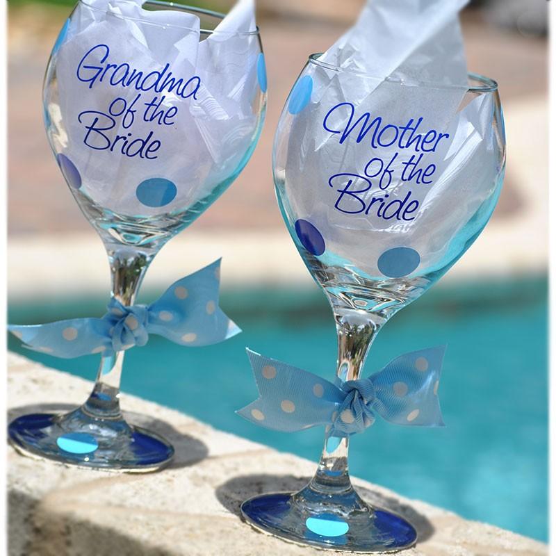 Fancy Bridal Party Wine Glass