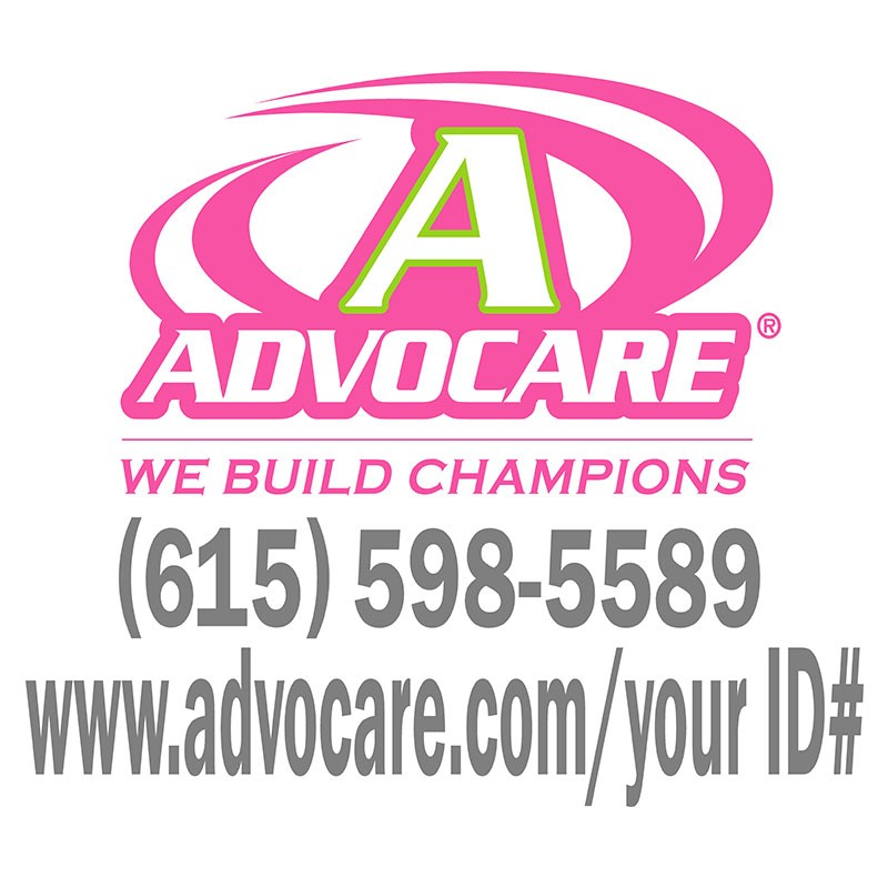 Advocare full color small window decal pink lime