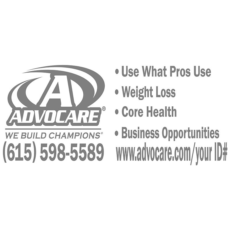 Advocare White Large Window Decal - Advocare car decal stickers
