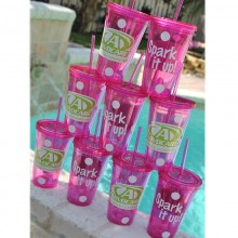 Advocare Pink/Lime Tumbler
