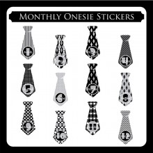 Monthly Onesie Sticker  *Black Beauty*
