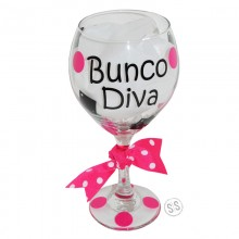 Wine Glass *Bunco Diva*