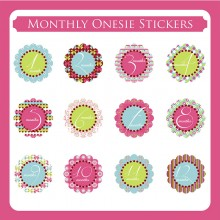 Monthly Onesie Sticker  *Butterfly*