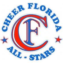 Cheer Florida Car Sticker