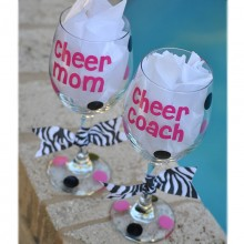 Wine Glass *Cheer Mom/Coach*