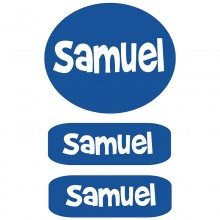 Peel & Stick Clothing Labels  *Blue*