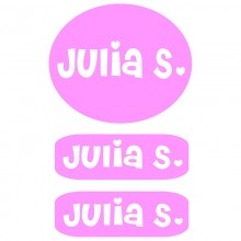 Peel & Stick Clothing Labels *Light Pink*