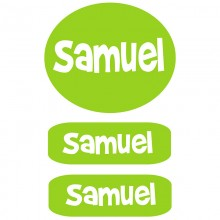 Peel & Stick Clothing Labels *Lime Green Boys*