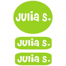 Peel & Stick Clothing Labels *Lime Green Girls*