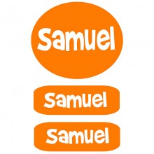 Peel & Stick Clothing Labels *Orange*