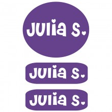 Peel & Stick Clothing Labels *Purple*