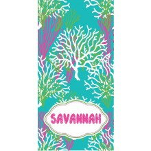 Coral Reef Aqua  Beach Towel