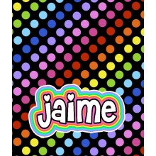 Black Rainbow Dots Blanket- ND