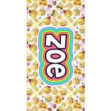 White Emoji Faces Towel- ND
