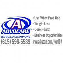 Advocare Full Color Large Window Decal *blue/red*