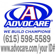 Advocare Full Color Small Window Decal *red/blue*