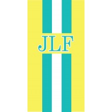 Stripe Monogram Towel