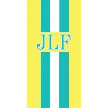 Stripe Monogram Towel