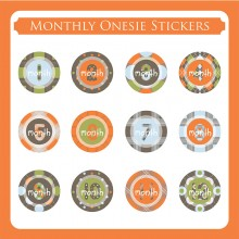 Monthly Onesie Sticker  *Jungle Patrol Round*