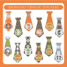 Monthly Onesie Sticker  *Jungle Patrol Ties*