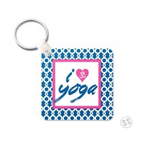 I Love Yoga Keychain