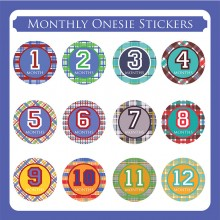 Monthly Onesie Sticker  *Madris Round*