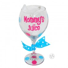 Wine Glass *Mommy's Juice*