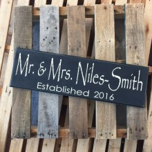 Plaque *Papyrus Font Mr. And Mrs.*