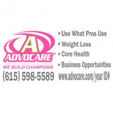 Advocare Full Color Large Window Decal *pink/lime*