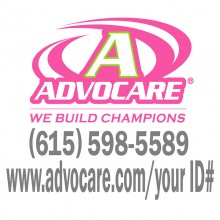 Advocare Full Color Small Window Decal *pink/lime*